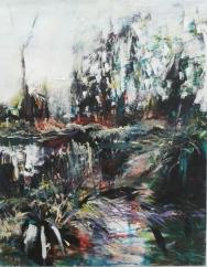 2015,Marei´s Garten2, 90x70